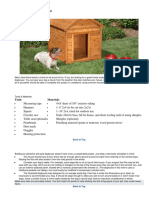 How to Build a Doghouse LOWES