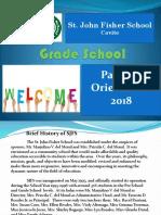 Orientation Grade School