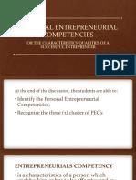 LESSON 1 - Personal Entrepreneurial Competencies
