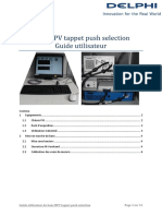 Guide Utilisateur Banc HPV Tappet Push Selection