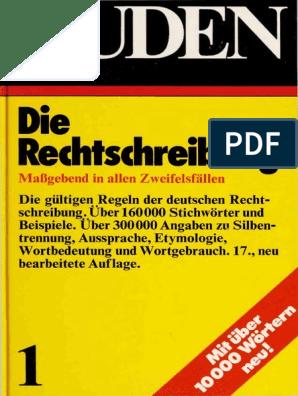 Duden Die Rechtschreibung 1973