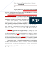 Les Déterminants de l'Inflation Selon Les Théories Économiques_20 Pages