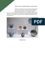 ceramic kiln:118 kinds of most valuable Chinese ceramic kilns