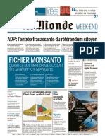Journal LE MONDE Et Suppl Du Samedi 11 Mai 2019