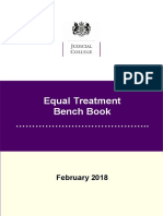 Equal Treatment Bench Book UK