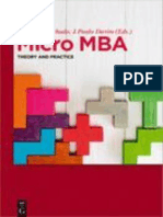 Micro MBA Theory and Practice