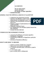 Empirical Analysis of Algorith m