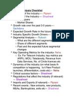 Industry Analysis Checklist
