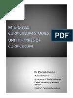 Study Material Curriculum Studies