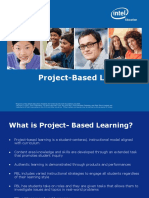 Project Based Learning Overview