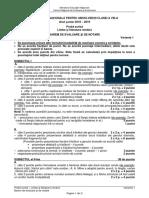 Barem Romana Evaluare Nationala 2019