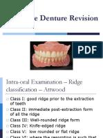 Complete Denture Revision