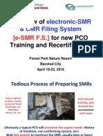 2017_PCO Training- E-SMR EFiling System 4-20-16