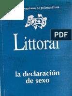 littoral 11-12 La Declaración de Sexo