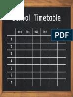 Timetable 05