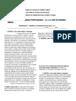 2º e 3 º Ano IQE - NIVELAMENTO - Leitura e Interpretação de Texto - HABILIDADE 01