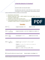Domains of a Function Definitions Examples
