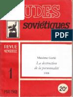 Gorki Destruction Personnalité