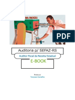 E-book Auditoria SEFAZ RS CESPE 2019 Tonyvan Carvalho