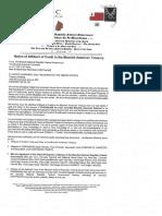 Notice of Affidavit of Credit to the Moorish American Treasury