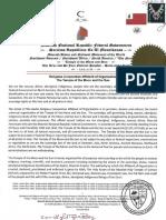 Religious Corporation Affidavit of Organization
