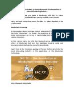 ERC 721 Token Standard