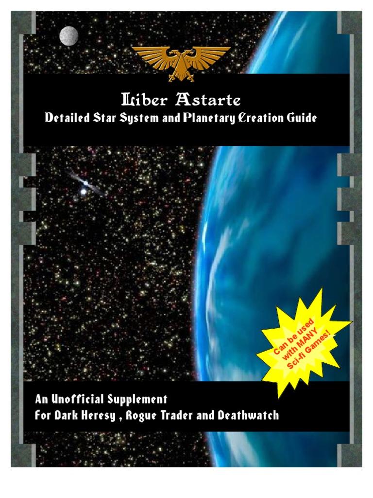 Rogue trader star system generator