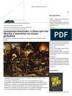 Lumpemproletariado_ a Chave Que Une Liberais e Marxistas Na Utopia Globalista - Estudos Nacionais