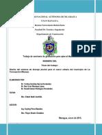 Diseño Del Sistema de Drenaje Pluvial Para El Casco Urbano NICARAGUA