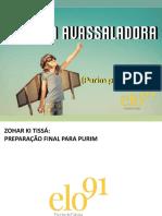 Aula de Zohar Ki Tissa 2018 - Preparacao Purim 3 e Final