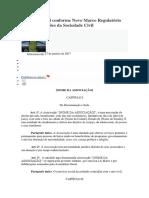 Estatuto Social Conforme Novo Marco Regulatório Das Organizações Da Sociedade Civil