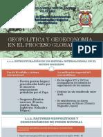 Geopolitica y Geoeconomia en El Proceso Globalizador
