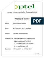 PTCL Internship Report by Fawad Ahmed