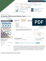 On Rounds_ 1000 Internal Medicine Pearls_ 9781496322210_ Medicine & Health Science Books @ Amazon.com