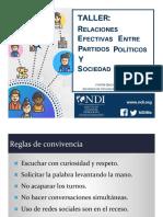 Relaciones Efectivas Entre Partidos y Sociedad Civil