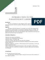Introduction to parasitology laboratory