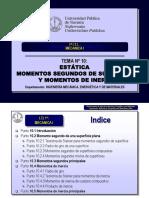 Tema 10 Momentos Segundos de Superficie y Momentos de Inercia