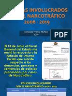 Entre los años 2006 y 2019 105 policías se involucraron con el narcotráfico
