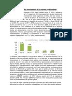 Descripción del financiamiento de la empresa Saga Falabella