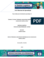 Informe Definiendo y Desarrollando Habilidades Para Una Comunicacion Asertiva y Eficaz