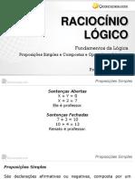 Fundamentos Da Lógica -Proposição Simples e Composta