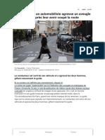 VIDEO. Paris _ Un Automobiliste Agresse Un Aveugle Et Son Guide Après Leur Avoir Coupé La Route
