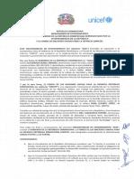 Memorando de Entendimiento de Colaboración Interinstitucional entre PROSOLI, GCPS y UNICEF