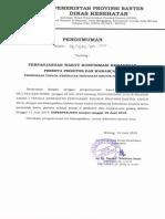 Perpanjangan Pengumuman Seleksi Tahap 1 Dan Konfirmasi Kehadiran Seleksi Tahap 2 Nusantara Sehat Individual Provinsi Banten
