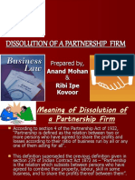 Dissolution of a Partnership Firm 123