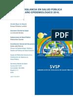 Informe Vigilancia en Salud Pública Bogotá Año 2016