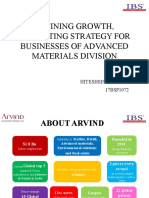 marketing strategy for business of advanced material divison