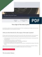 Origin Solar System
