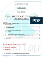 Fisheries_Content Sheet_Harvest and Post-Harvest Technologies
