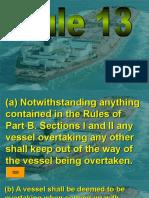 Rule 13 - Overtaking